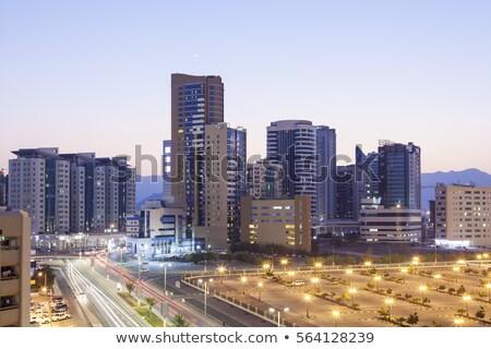 View of Fujairah City in the night. United Arab Emirates Stock photo © dashapetrenko