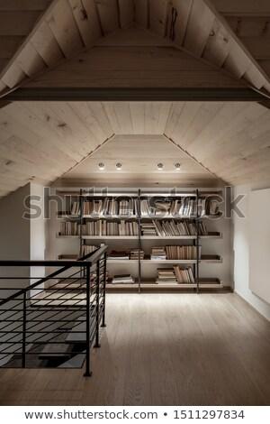 trendy modern country house with luminous lamps stock photo © bezikus