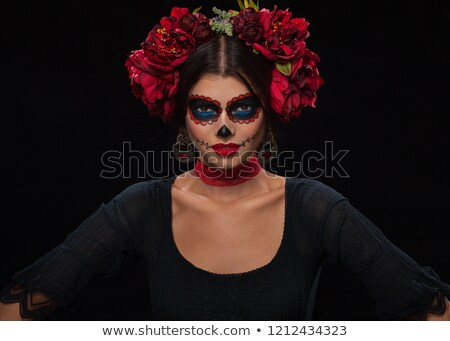 bride with a mexican calaveras makeup stock photo © nito