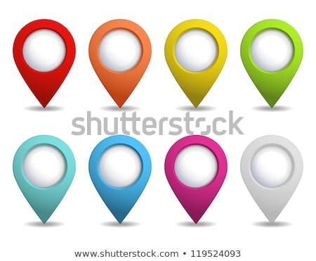 laranja · abstrato · mapa · botão · gps · distintivo - foto stock © molaruso