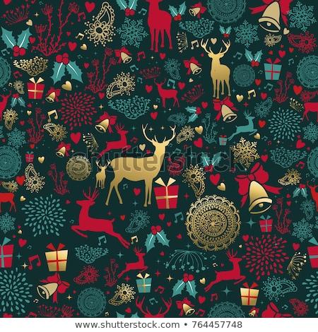 Noel · ren · geyiği · ikon · model - stok fotoğraf © cienpies
