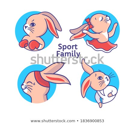 Cartoon Smiling Karate Bunny Stock photo © cthoman