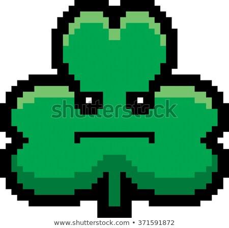 Serious 8-Bit Cartoon Shamrock Stock photo © cthoman
