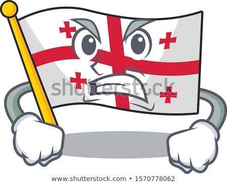 Cartoon boos Georgië illustratie naar grafische Stockfoto © cthoman