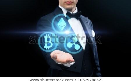 pénzügyi · technológia · üzlet · virtuális · bitcoin · hullám - stock fotó © dolgachov
