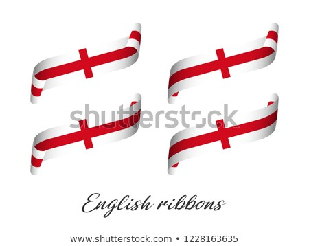 set of four modern colored vector ribbons with english colors isolated on white background flag of stock photo © kurkalukas