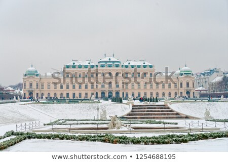 Photo stock: Palais · hiver · neige · paysage · jardin · château