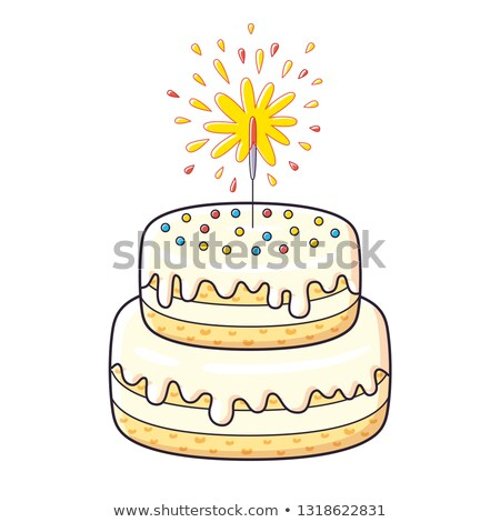 grande · pastel · de · cumpleanos · vector · alimentos · fiesta · feliz - foto stock © pikepicture