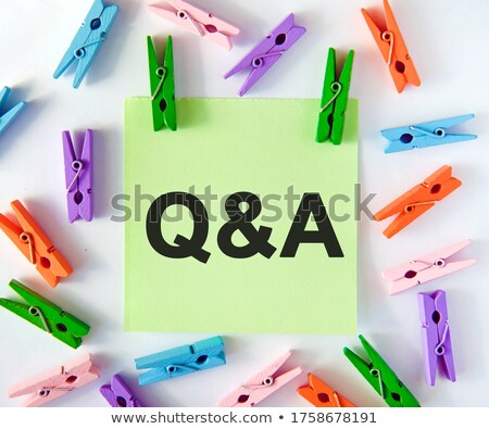 Clothespin letter Q Stock photo © boggy