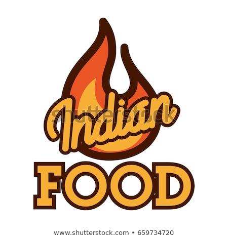 色 · ヴィンテージ · インド料理 · エンブレム · ラベル · バッジ - ストックフォト © netkov1