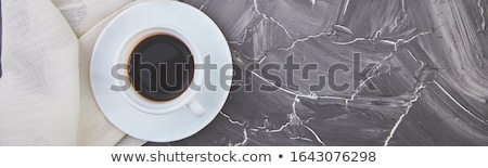 Two white cups of espresso on grey grunge background. Stock photo © Illia