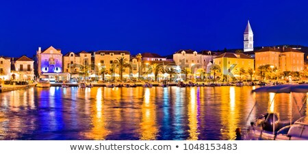 Town of Supetar on Brac island evening view Stock photo © xbrchx