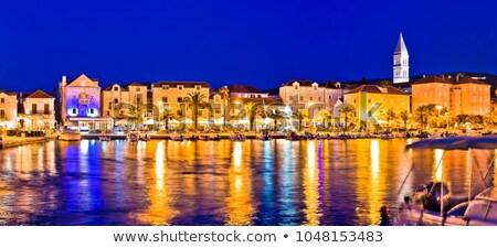 cidade · ilha · noite · ver · construção · viajar - foto stock © xbrchx