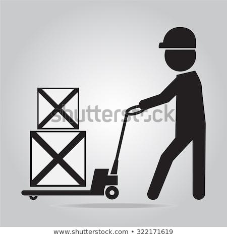 Hidraulikus ikon szín árnyék terv háttér Stock fotó © angelp