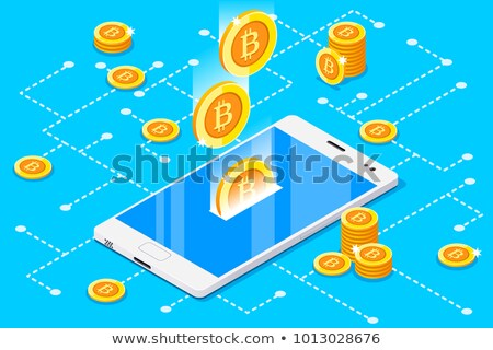 smartphone with gold coins concept stock photo © loopall