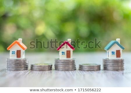Propriété valeur texte maison modèle Photo stock © AndreyPopov