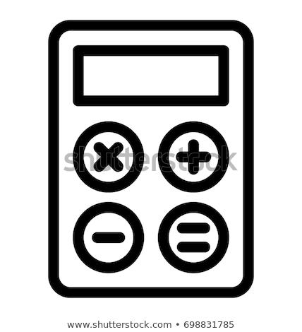 калькулятор · икона · кнопки · дизайна · бизнеса - Сток-фото © angelp