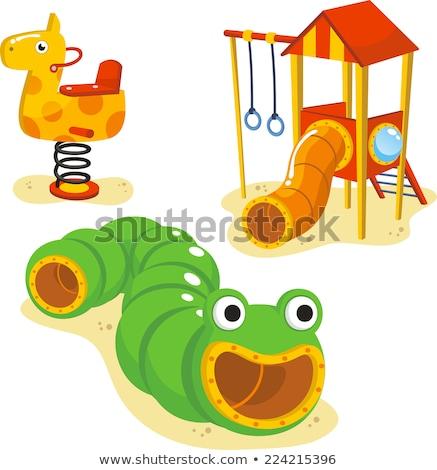 Ingesteld speeltuin uitrusting illustratie kunst zomer Stockfoto © colematt