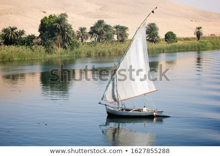 Nile River and boats Stock photo © Givaga