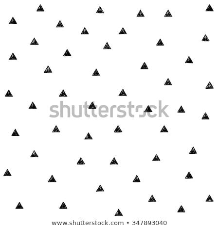 Naadloos doodle driehoek patroon 80s stijl Stockfoto © zsooofija