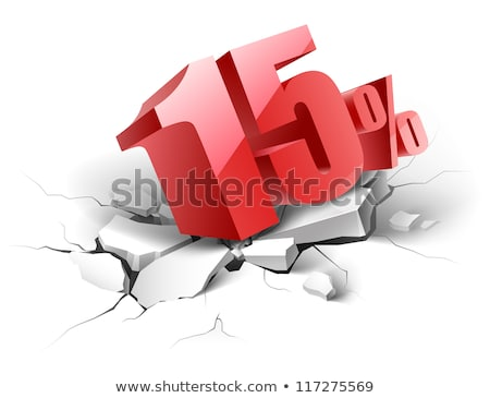 Vijftien procent 15 marketing bieden vector Stockfoto © pikepicture