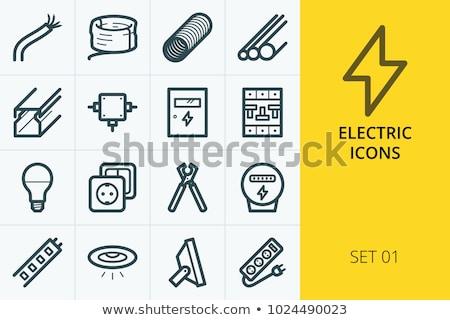 電気 ジャンクション ボックス アイコン 色 はしご ストックフォト © angelp
