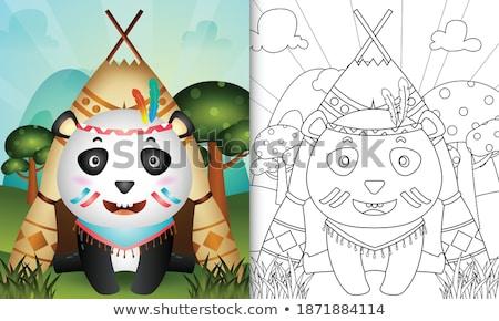 Oude tekening kleur schets stijl illustratie Stockfoto © patrimonio