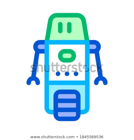 Artificial Intelligence Bot Wheel Vector Sign Icon Stock photo © pikepicture