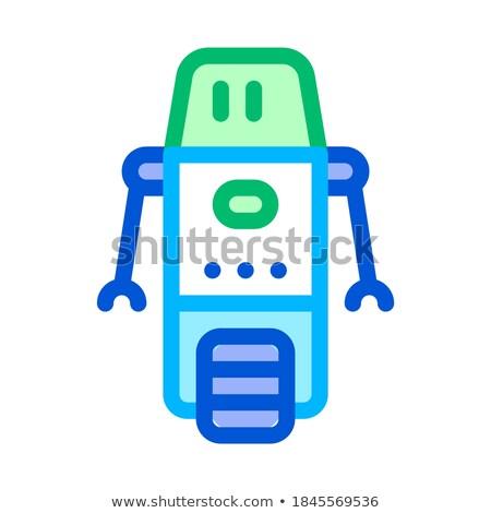 microchip · geïsoleerd · witte · ontwerp · industrie · wetenschap - stockfoto © pikepicture