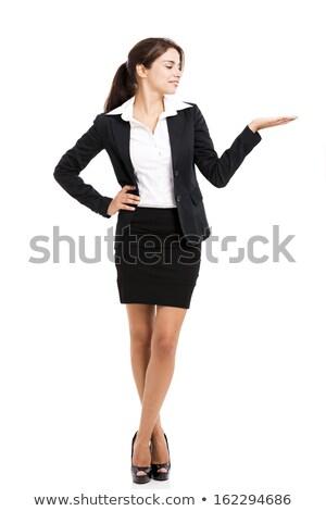 ビジネス女性 小さな グレー スーツ アイデア ストックフォト © lichtmeister