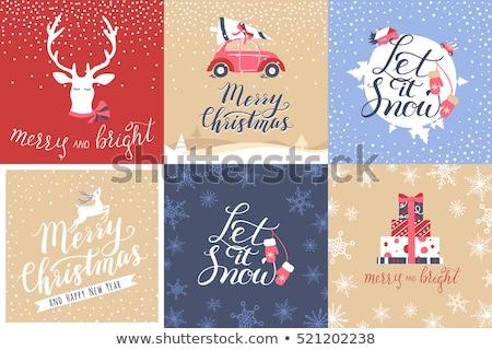 śniegu ciemności szablon christmas tle biały Zdjęcia stock © romvo