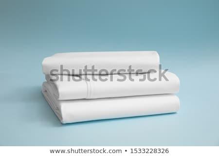 Cama folha branco confuso mobiliário ondas Foto stock © winnond