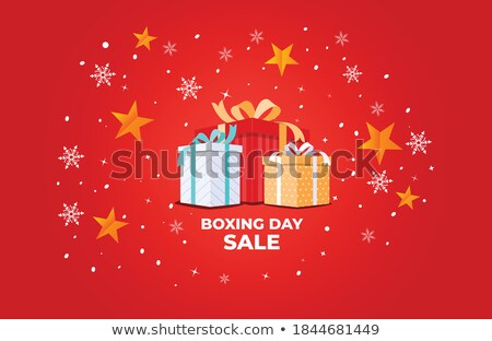 Merry Christmas Happy Winter Days Clearance Vector Stock photo © robuart