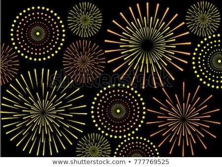 shiny diwali crackers firework celebration background design Stock photo © SArts