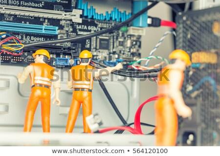 narancs · hiba · fényes · izolált · fehér · technológia - stock fotó © cidepix