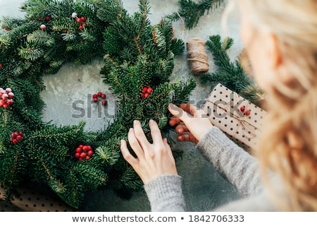 Holiday background with Advent wreath  Stock photo © grafvision