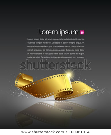 Film Strip Roll For Video Camera Color Vector Stock photo © pikepicture