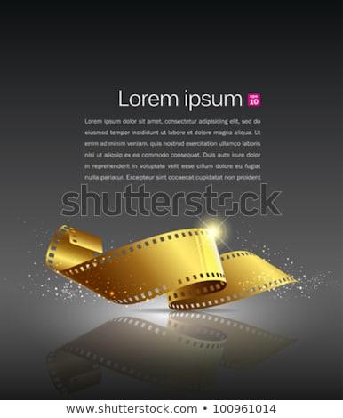 Film Strip Roll For Video Camera Color Vector Stok fotoğraf © Sarunyu_foto