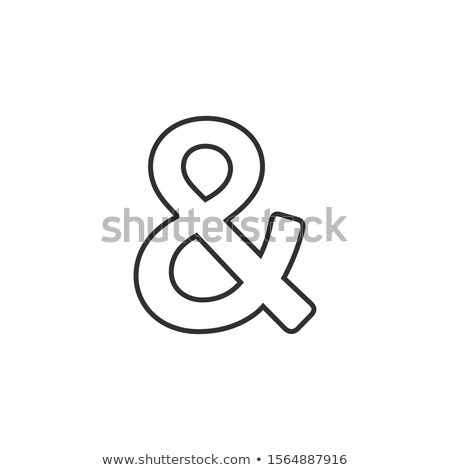 Linear Ampersand Symbol. Logogram, representing the conjunction and. Stock Vector illustration isola Stock photo © kyryloff
