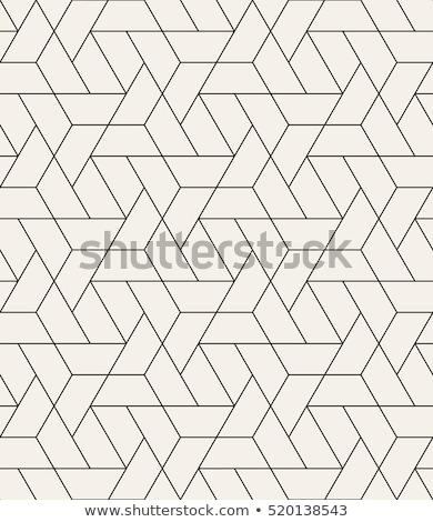 Vector naadloos geometrisch patroon oneindig stijlvol monochroom Stockfoto © ExpressVectors
