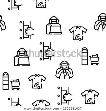 Vector dun lijn illustraties textuur Stockfoto © pikepicture