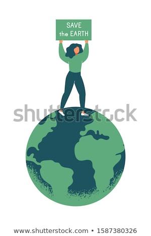 保存 地球 地球温暖化 キャンペーン ベクトル 芸術 ストックフォト © vector1st