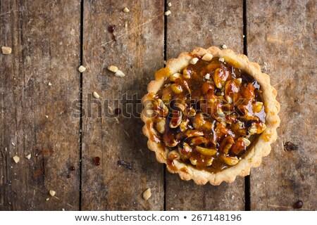 Avellana galletas oscuro fondo torta grupo Foto stock © boggy