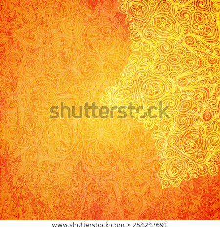 Mandala pattern on orange background Stock photo © bluering