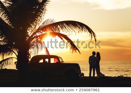 Belo casal praia tropical Cuba praia sorrir Foto stock © Lopolo