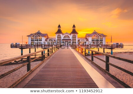 The sea pier of Sellin on Ruegen island Stock photo © elxeneize