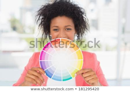 Mulher jovem cor múltiplo Foto stock © Giulio_Fornasar