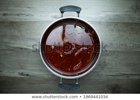 先頭 表示 新鮮な カボチャ スープ ストックフォト © vkstudio