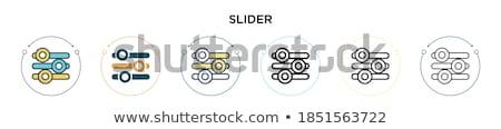 Equalizador fino ilustração web design Foto stock © supertrooper