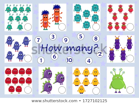 counting monster characters educational game color book page Stock photo © izakowski